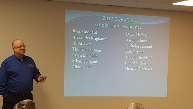 2017 COPAMA Scholarship Recipients