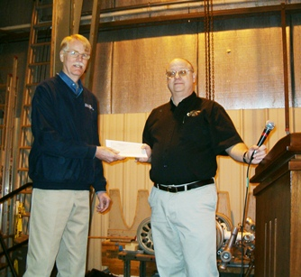 Presentation of Scholarship Check for MMS Testing Scholarships